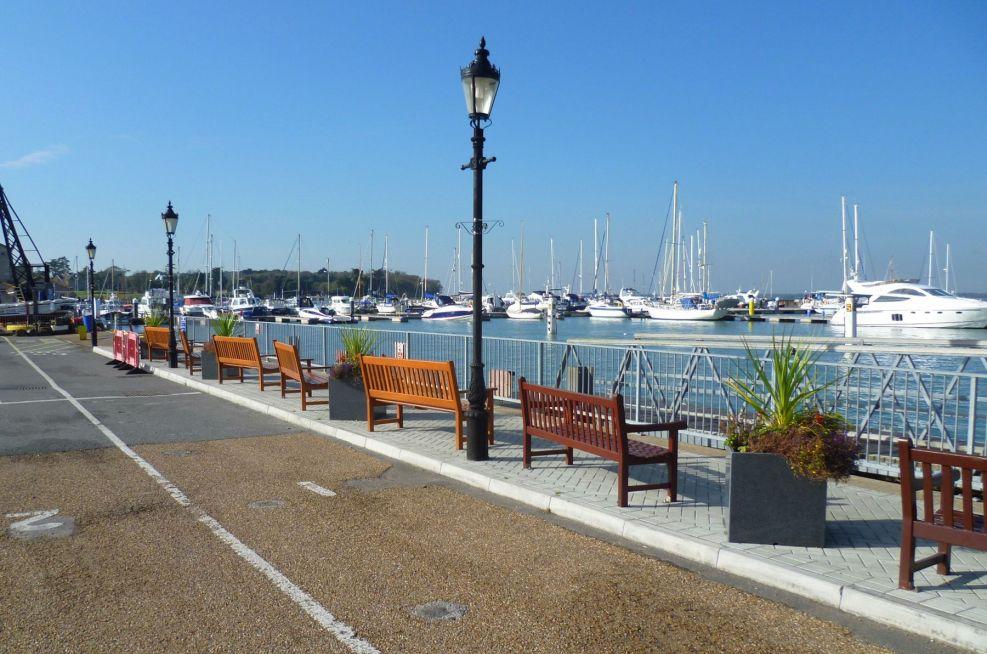 Granite Planters Adorning The Harbour