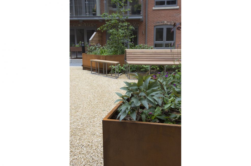 Corten Steel Outdoor Planters