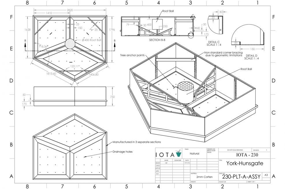 Design Of Large Corten Steel Planters