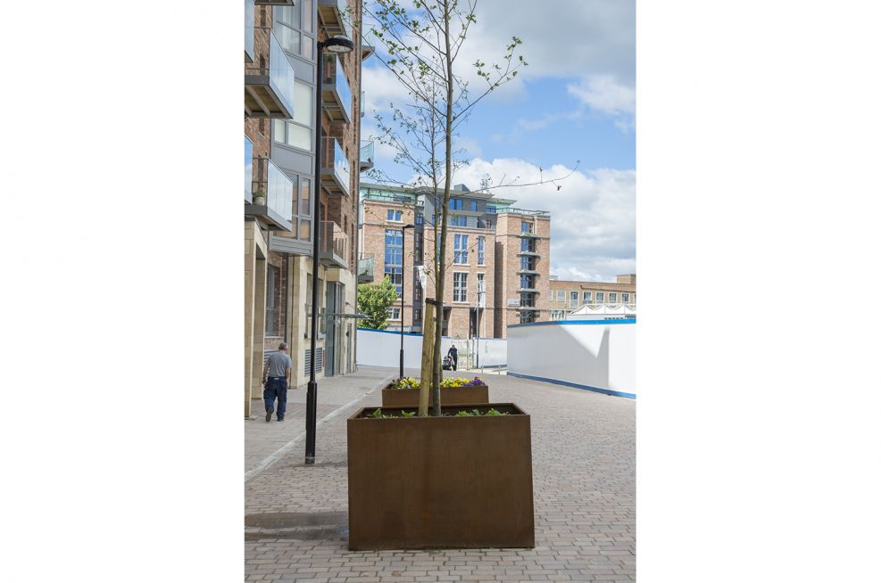Different View Of Extra Large Corten Steel Planters