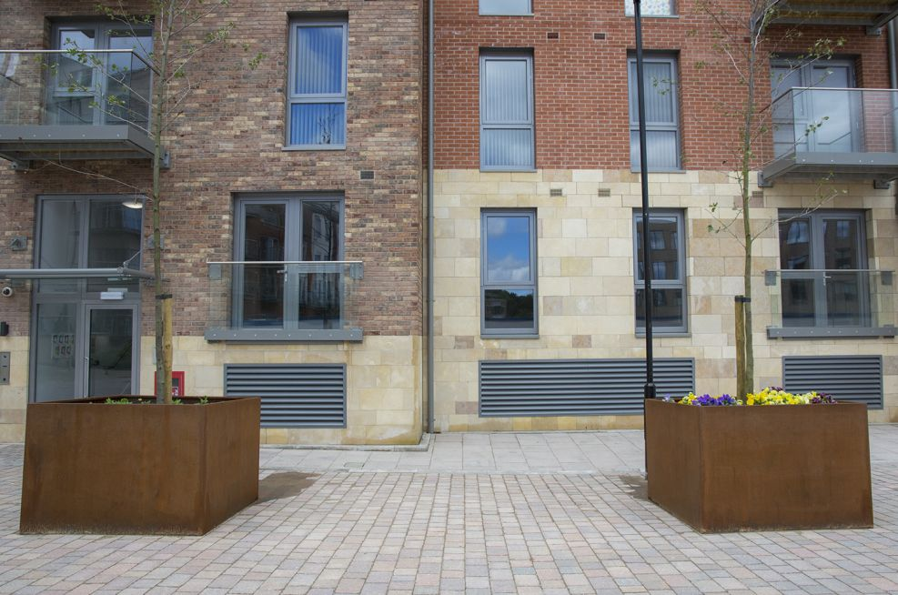 Extra Large Corten Steel Square Tree Planters