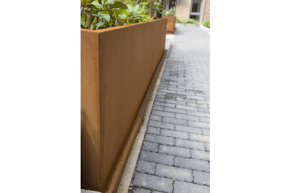 Trough Planters At Hungate Regeneration Scheme