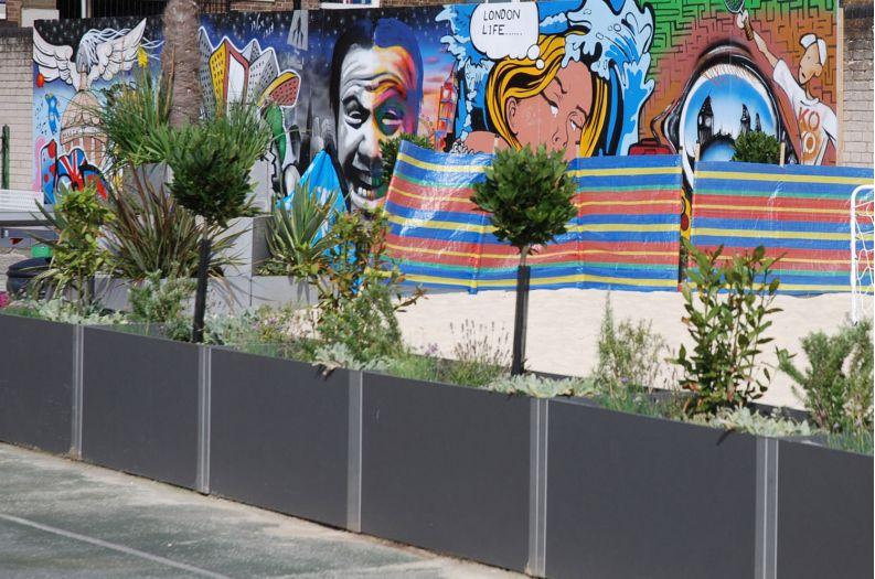 DELTA Carat planters at the Marlborough Sports Garden, Southwark, London
