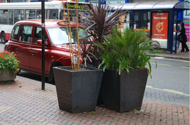 Granite Taper 800 Planters in Birmingham City Centre