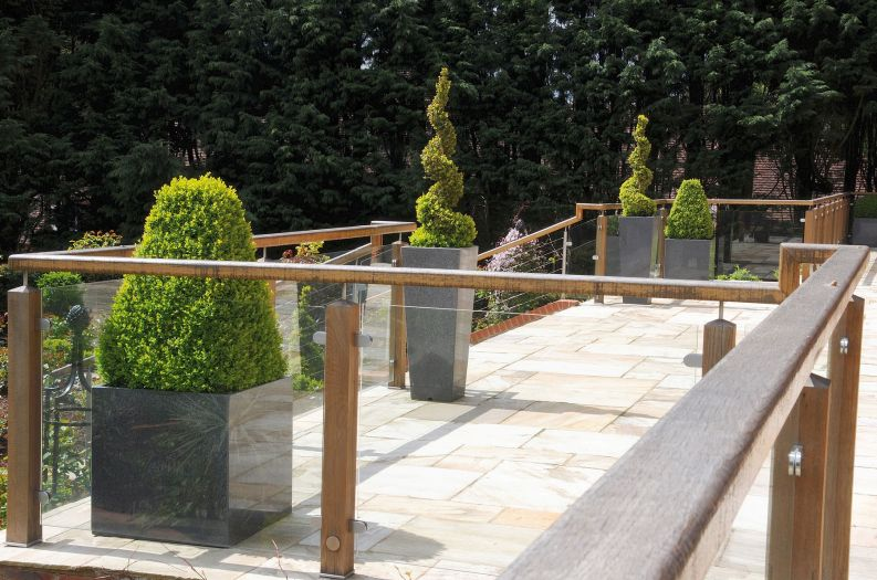 A selection of IOTA's Granite planters at weekend residence in Buckinghamshire