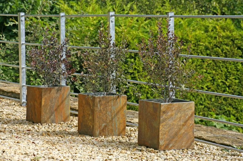 Slate Tall Square large planters