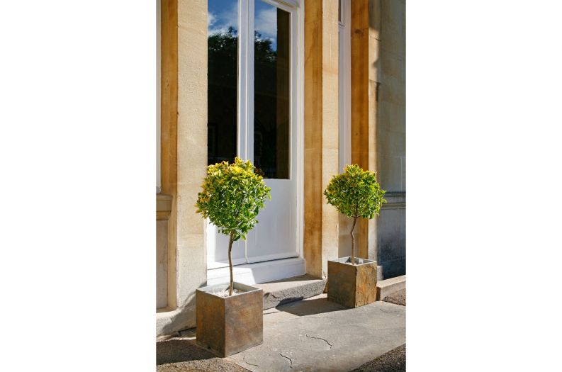 Slate Tall Square small planters