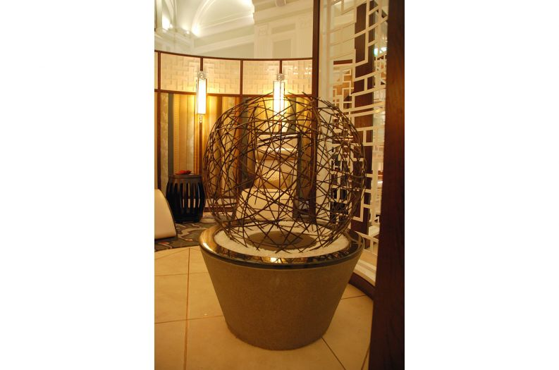 Bespoke sculpture commissioned for the Chuan Spa at The Langham Hotel London