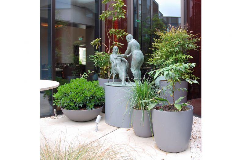 Custom coloured Boulevard planters for Montpellier Chapter Hotel, Cheltenham